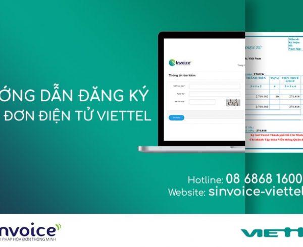 Hướng dẫn đăng ký Hóa đơn điện tử Viettel cho doanh nghiệp tại TPHCM