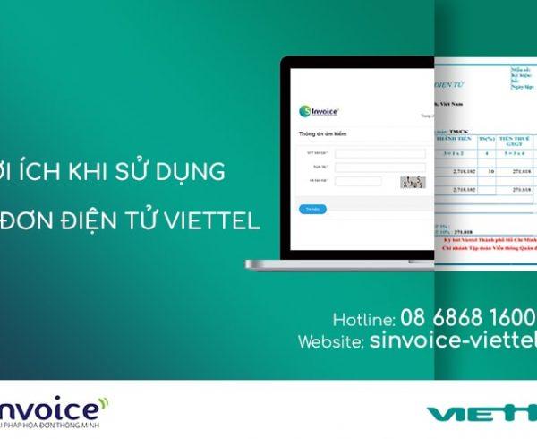 Lợi ích khi sử dụng Hóa đơn điện tử Viettel