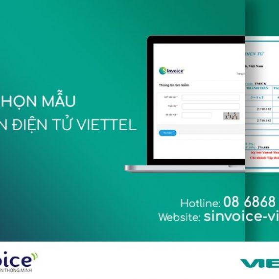 Chọn mẫu hóa đơn điện tử Viettel