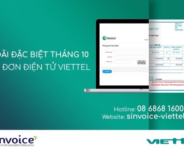 Ưu đãi Hóa đơn điện tử Viettel đặc biệt trong tháng 10